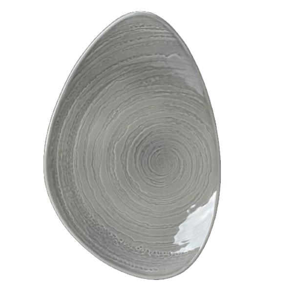 Онлайн каталог PROMENU: Блюдо фарфоровое асимметричное Steelite SCAPE GREY, длина 37,5 см, серый Steelite 1402X0060