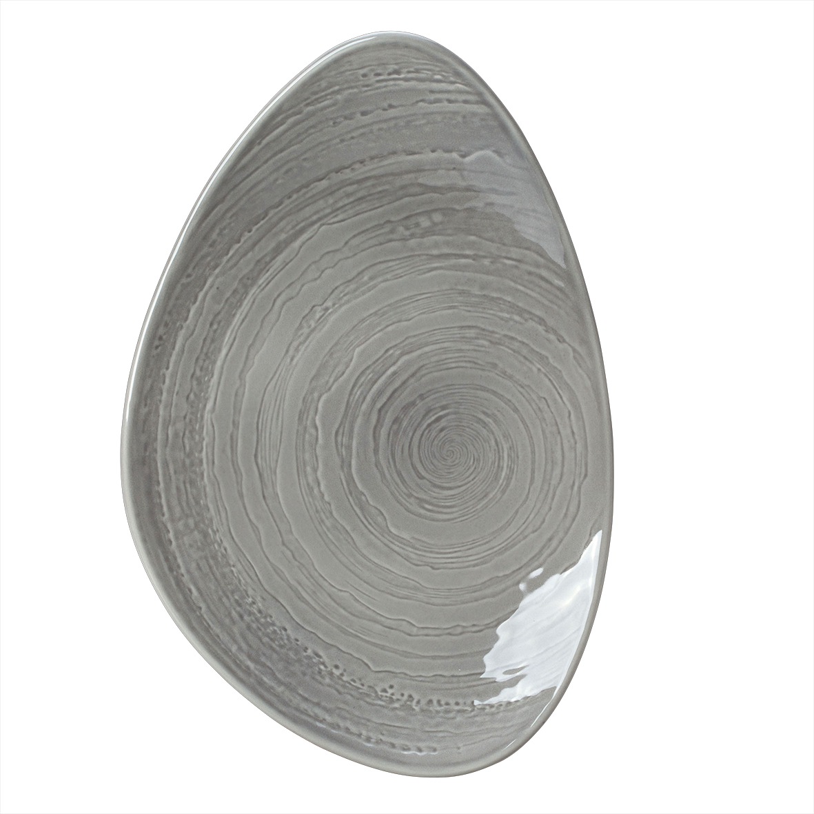 Блюдо фарфоровое асимметричное Steelite SCAPE GREY, длина 37,5 см, серый Steelite 1402X0060 фото 1
