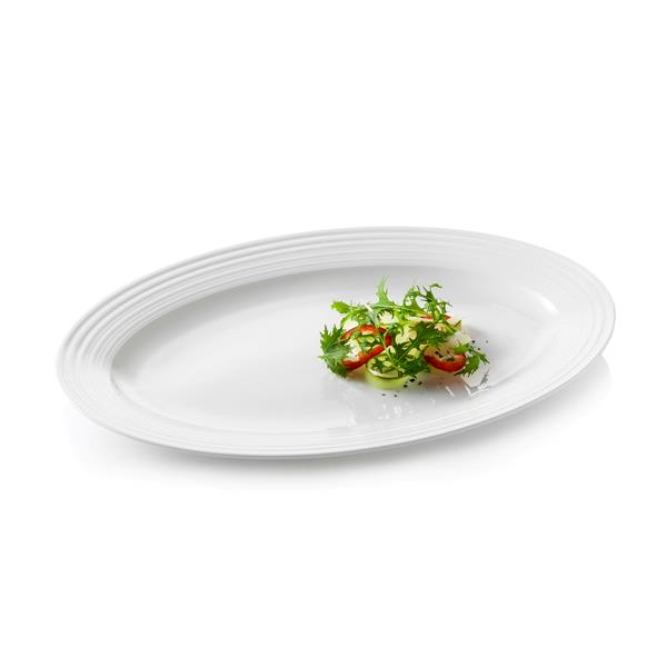 Онлайн каталог PROMENU: Блюдо овальное, фарфоровое Aida Passion, 41,5 x 28,5 см, белый Aida 19231