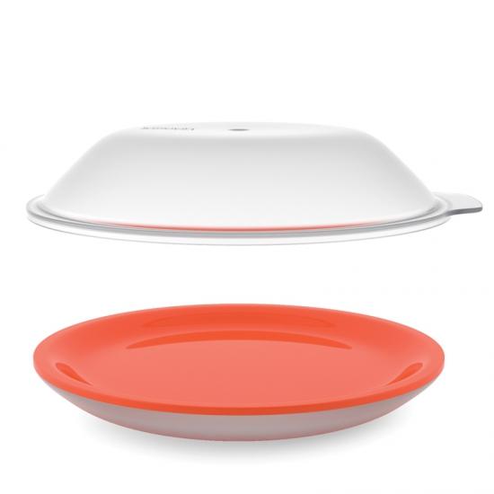 Онлайн каталог PROMENU: Блюдо с двойными стенками с крышкой для микроволновой печи Joseph Joseph M-Cuisine, диаметр 24 см, оранжевый Joseph Joseph 45011