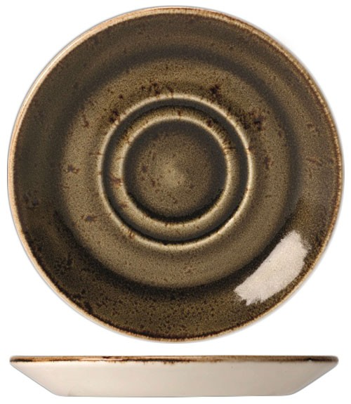 Блюдце фарфоровое Steelite Craft Brown, 15 см Steelite 11320158 фото 1