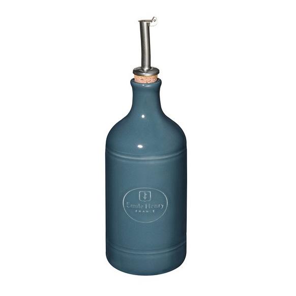 Онлайн каталог PROMENU: Бутылка для масла/уксуса Emile Henry Kitchen Tools, объем  0,45 л, синий Emile Henry 970215