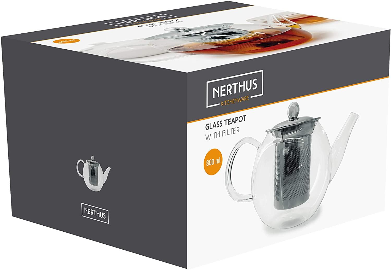 Чайник Nerthus GLASS TEAPOT, объем 0,8 л, прозрачный Nerthus FIH 564 фото 2