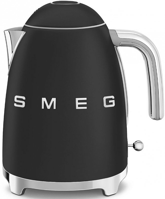 Онлайн каталог PROMENU: Чайник электрический Smeg 50 Style, объем 1,7 л, черный чугун  KLF03BLMEU