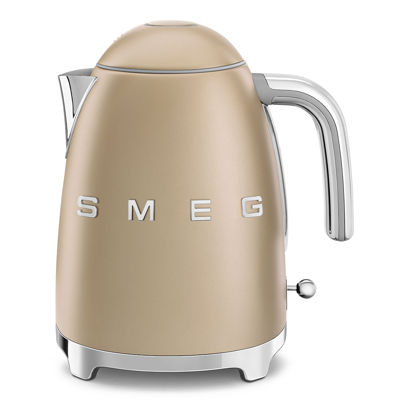 Онлайн каталог PROMENU: Чайник электрический Smeg 50 Style, объем 1,7 л, шампань  KLF03CHMEU