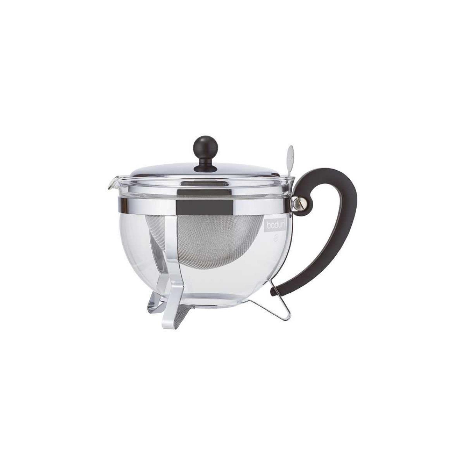 Онлайн каталог PROMENU: Чайник заварочный с фильтром Bodum Chambord, объем 1,3 л, прозрачный с серебристым Bodum 1921-16-6