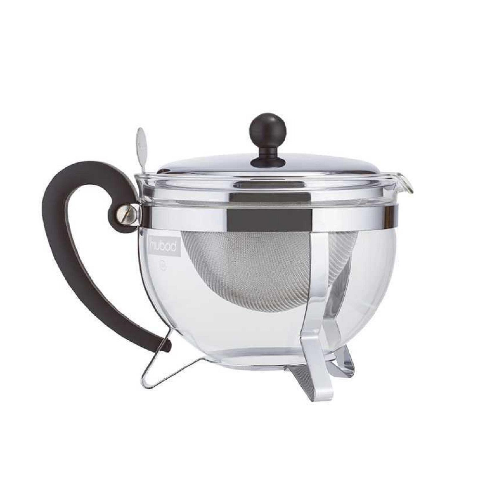 Чайник заварочный с фильтром Bodum Chambord, объем 1,3 л, прозрачный с серебристым Bodum 1921-16-6 фото 1