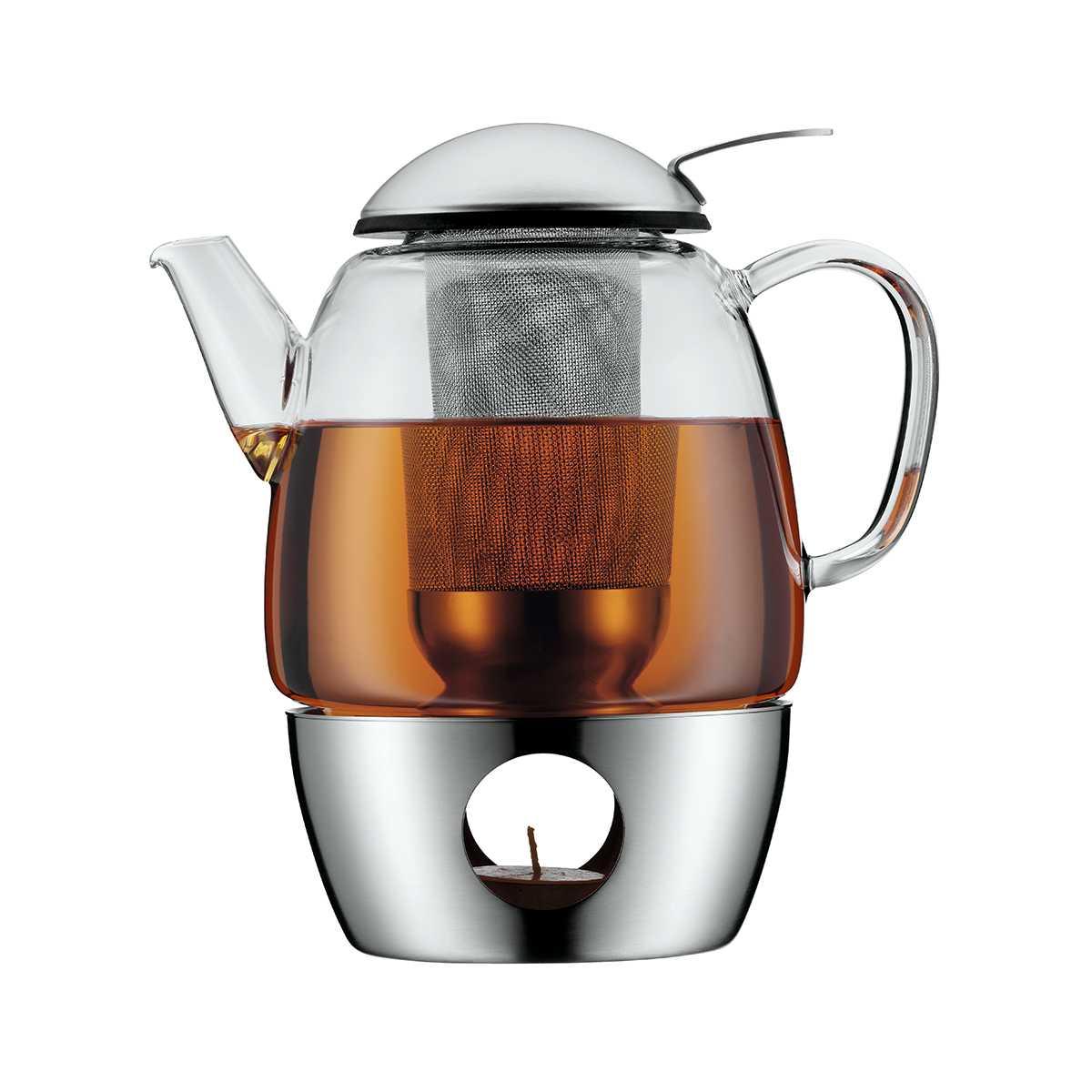 Чайник заварочный с подогревом WMF COFFEE AND TEA, объем 1 л, прозрачный WMF 06 3109 6030 фото 1