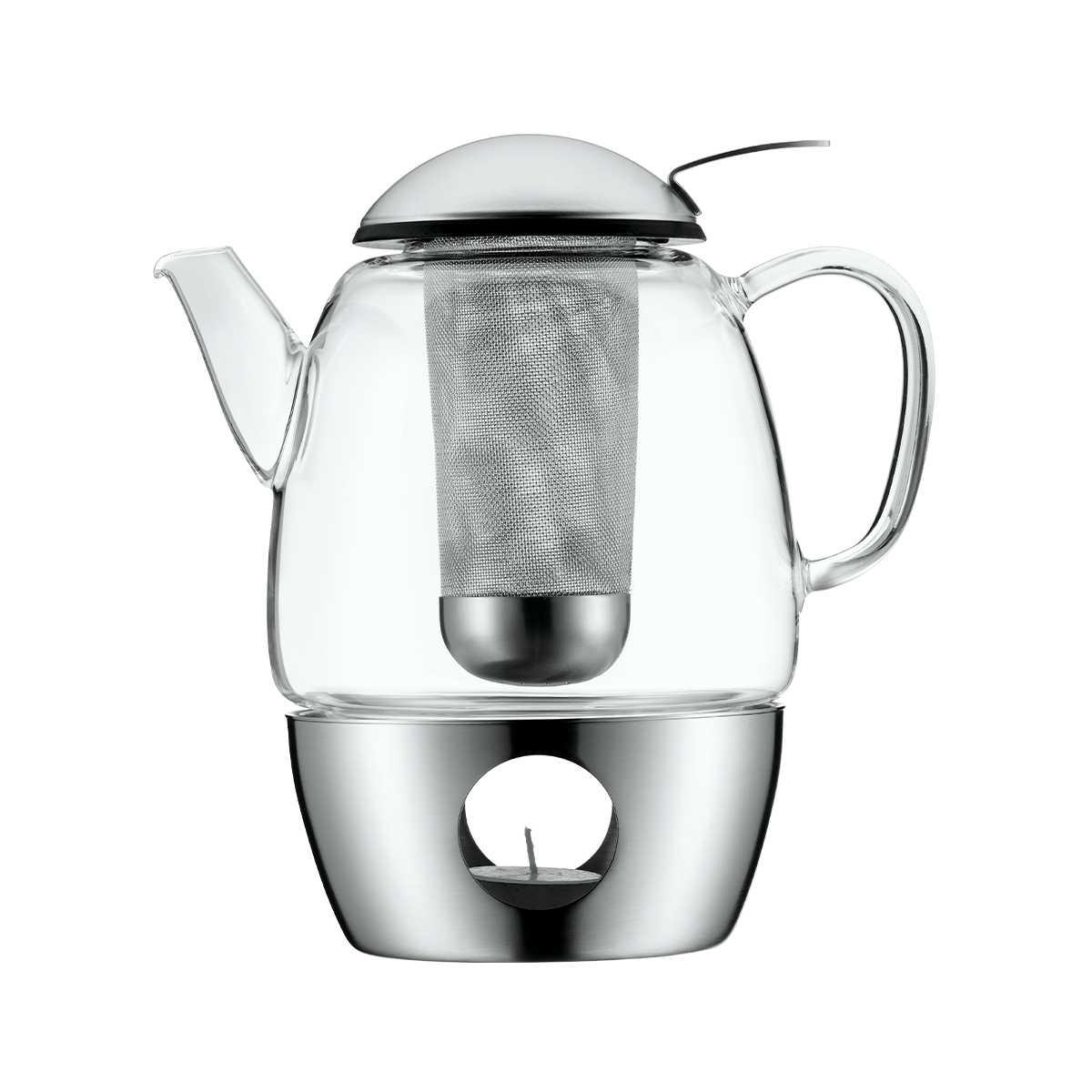 Онлайн каталог PROMENU: Чайник заварочный с подогревом WMF COFFEE AND TEA, объем 1 л, прозрачный WMF 06 3109 6030