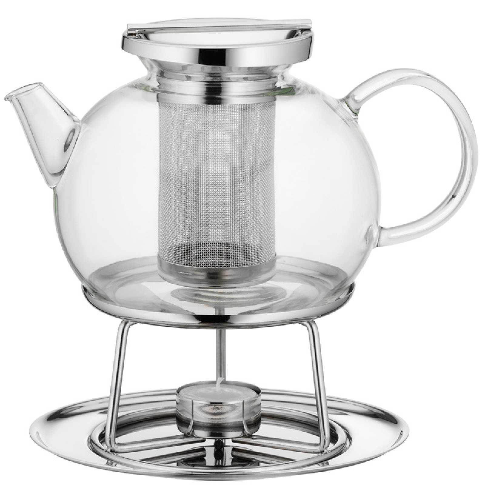 Онлайн каталог PROMENU: Чайник заварочный с подогревом WMF, объем 0,75 л, прозрачный WMF 06 3080 6040