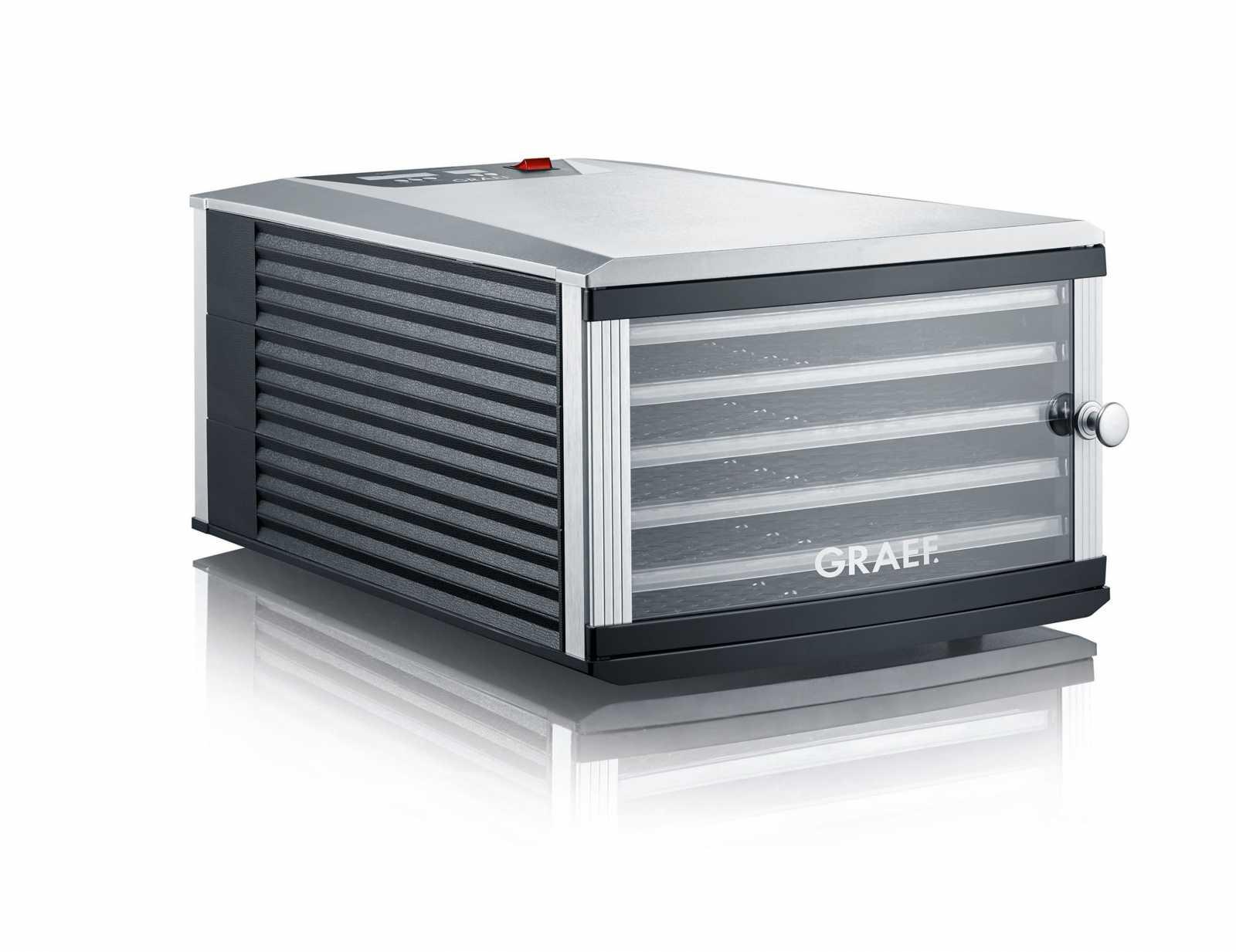 Онлайн каталог PROMENU: Дегидратор DA506 Graef, с термостатом, 6 поддонов, серый Graef DA 506