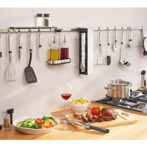 Держатель кухонный с 7 крючками Brabantia, длина 60 см, серебристый Brabantia 460005 фото 5