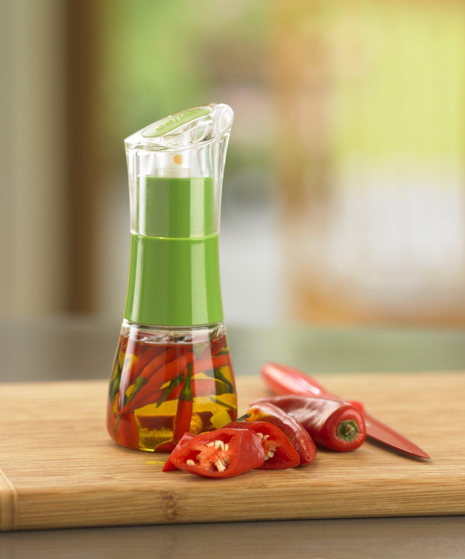 Диспенсер для масла/уксуса Zyliss, прозрачный с зеленым Zyliss E970008 фото 4