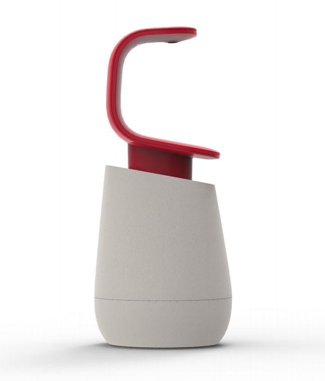 Диспенсер для жидкого мыла Joseph Joseph C-PUMP, 8,5х8,5х19 см, объем 0,3 л, красный с белым Joseph Joseph 85066 фото 1