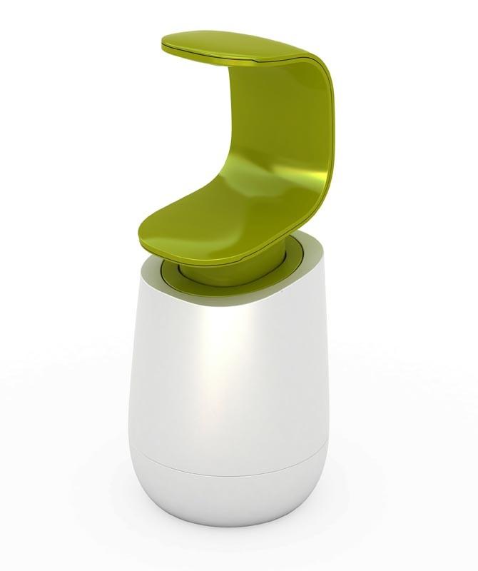 Онлайн каталог PROMENU: Диспенсер для жидкого мыла Joseph Joseph C-PUMP, 8,5х8,5х19 см, объем 0,3 л, зеленый с белым Joseph Joseph 85053