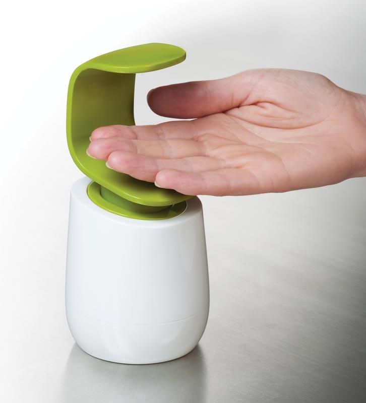 Диспенсер для жидкого мыла Joseph Joseph C-PUMP, 8,5х8,5х19 см, объем 0,3 л, зеленый с белым Joseph Joseph 85053 фото 2