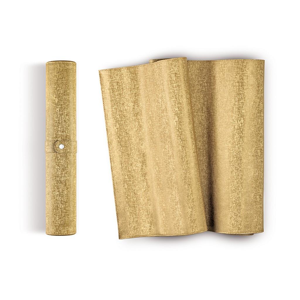 Онлайн каталог PROMENU: Дорожка на стол IVV, 42x150 см, золотистый                                   7619.1