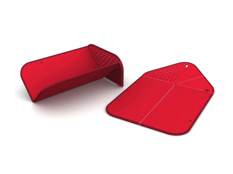 Доска разделочная складная Joseph Joseph RINSE AND CHOP, 43x28x0,5 см, красный Joseph Joseph RCR016SW фото 4