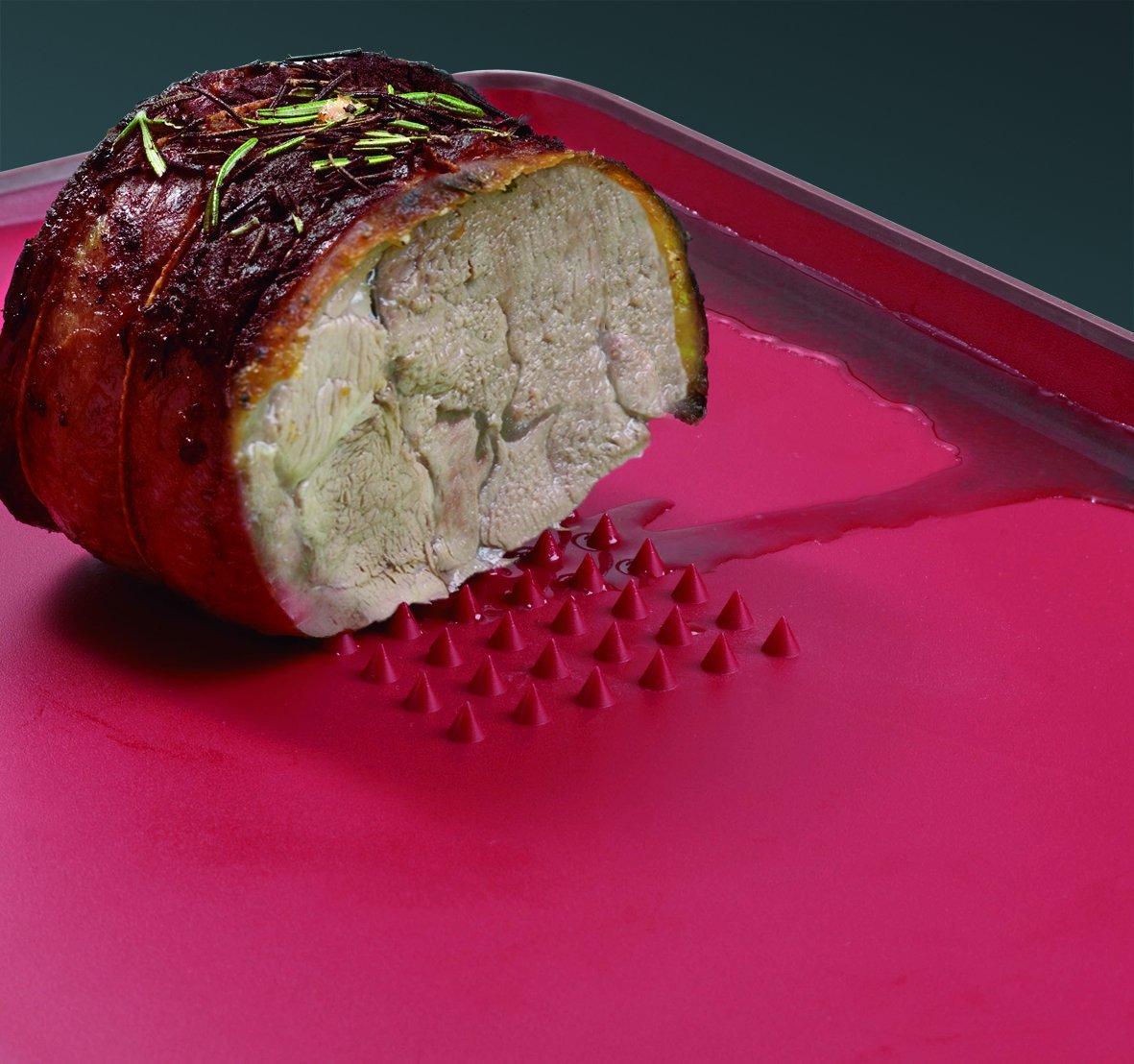 Доска разделочная для мяса Joseph Joseph cut&carve plus, двухсторонняя, 29x22,5x2 см, красный Joseph Joseph 60014 фото 2