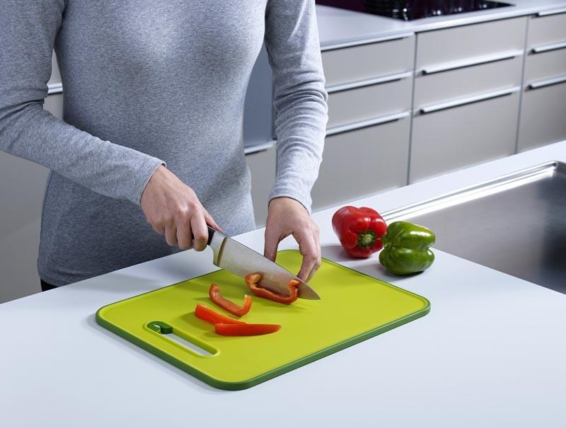 Доска разделочная с ножеточкой Joseph Joseph slice&sharpen, 29,5x22,5x1 см, зеленый Joseph Joseph 60047 фото 2