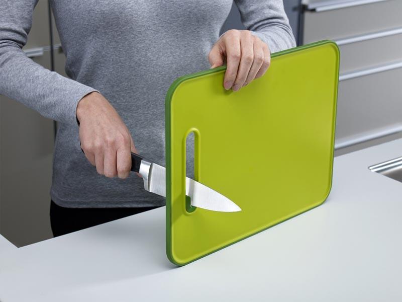 Доска разделочная с ножеточкой Joseph Joseph slice&sharpen, 29,5x22,5x1 см, зеленый Joseph Joseph 60047 фото 1