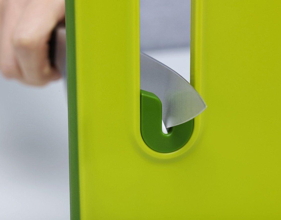Доска разделочная с ножеточкой Joseph Joseph slice&sharpen, 29,5x22,5x1 см, зеленый Joseph Joseph 60047 фото 3