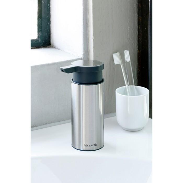 Дозатор для жидкого мыла Brabantia, объем 0,2 л, серебристый с серым Brabantia 481208 фото 3