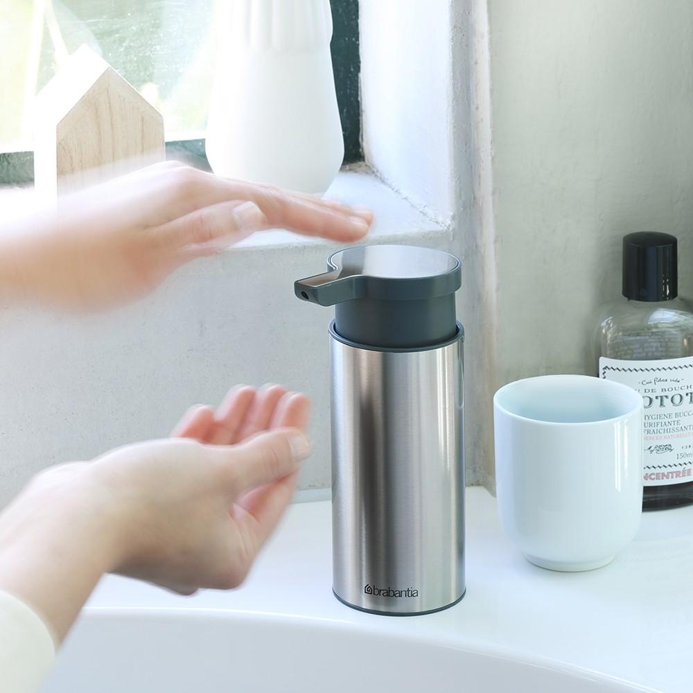 Дозатор для жидкого мыла Brabantia, объем 0,2 л, серебристый с серым Brabantia 481208 фото 2