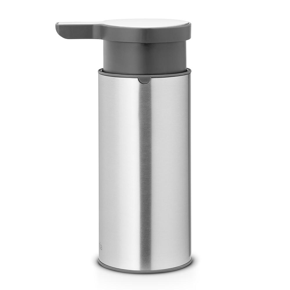 Онлайн каталог PROMENU: Дозатор для жидкого мыла Brabantia, объем 0,2 л, серебристый с серым Brabantia 481208
