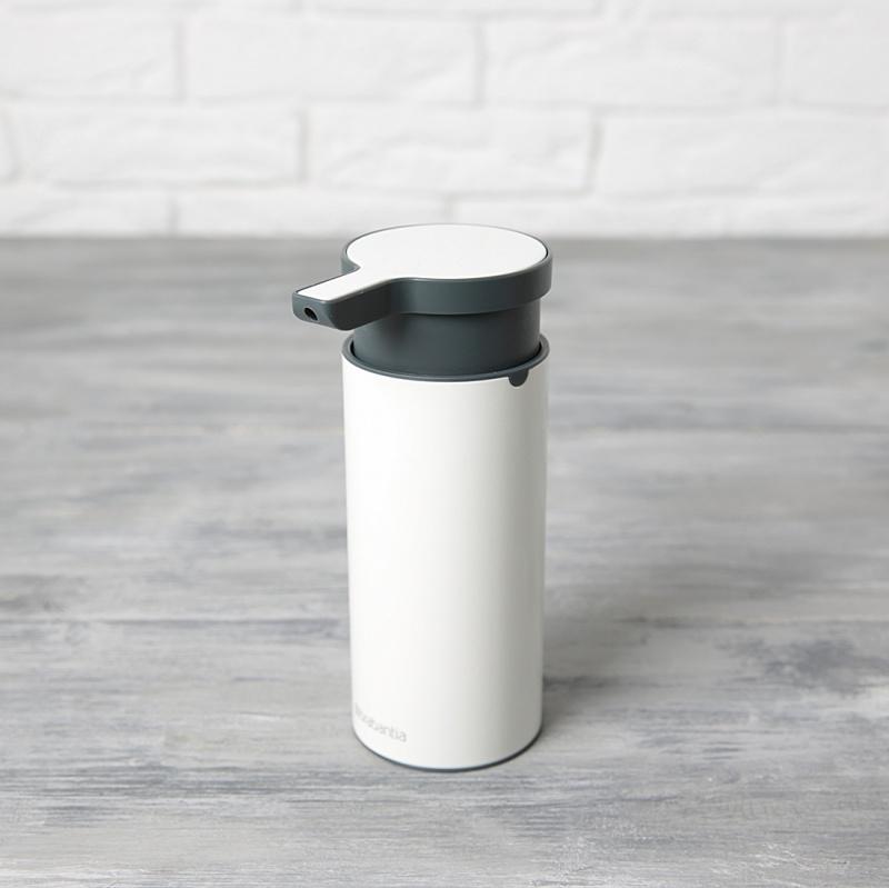 Дозатор для жидкого мыла Brabantia, объем 0,2 л, белый с черным Brabantia 108181 фото 2