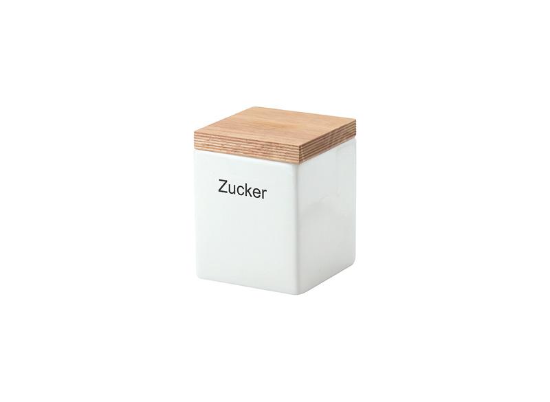 Онлайн каталог PROMENU: Емкость для хранения с крышкой Continenta, 10x10x12,5 см, белый с бежевым Continenta 3912