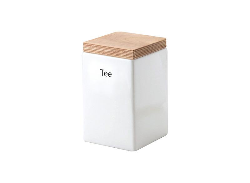 Онлайн каталог PROMENU: Емкость для хранения с крышкой Continenta, 10x10x16,5 см, белый с бежевым Continenta 3913