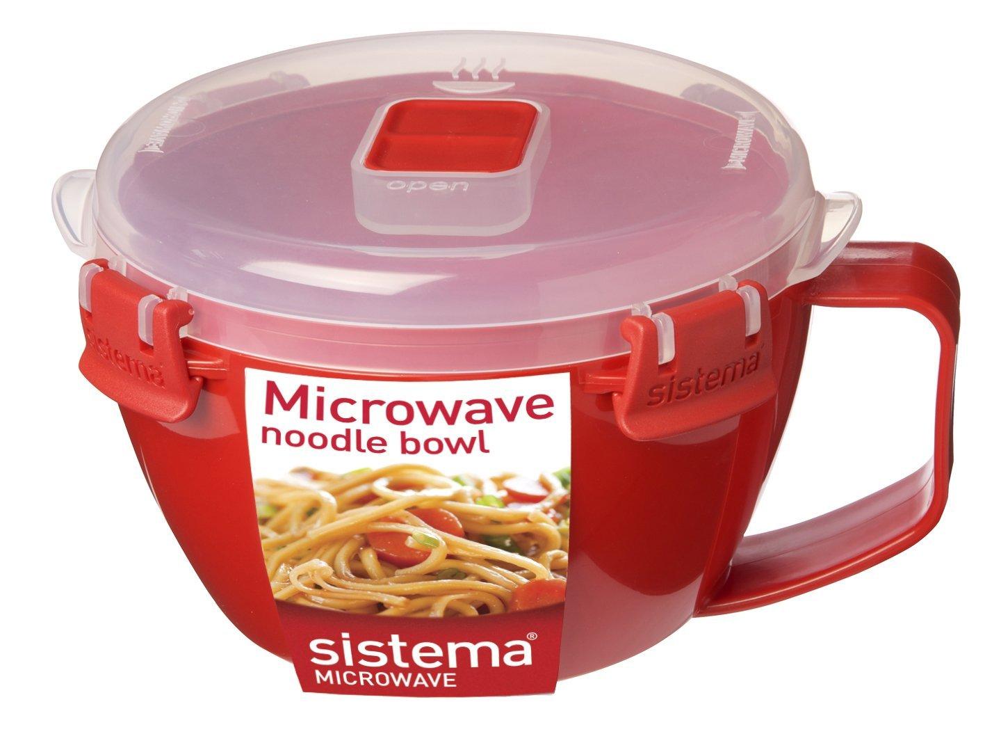 Онлайн каталог PROMENU: Емкость для приготовления лапши Sistema MICROWAVE, объем 0, 94 л, красный Sistema 1109