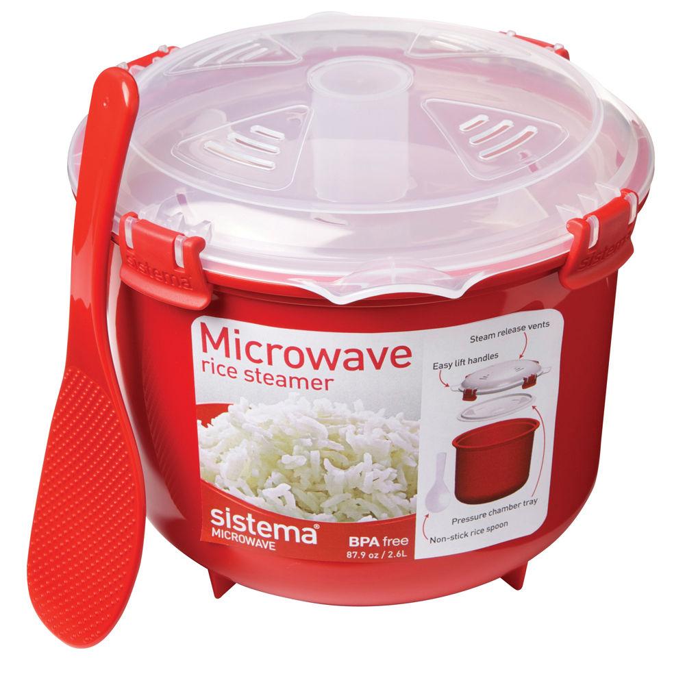 Онлайн каталог PROMENU: Емкость для приготовления риса Sistema, объем 2,6 л, 21,6х19,5х16,1 см, красный Sistema 1110
