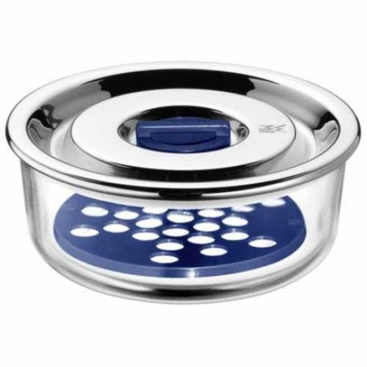 Онлайн каталог PROMENU: Емкость с крышкой для продуктов WMF, диаметр 13 см, прозрачный с серебристым WMF 06 5485 6020