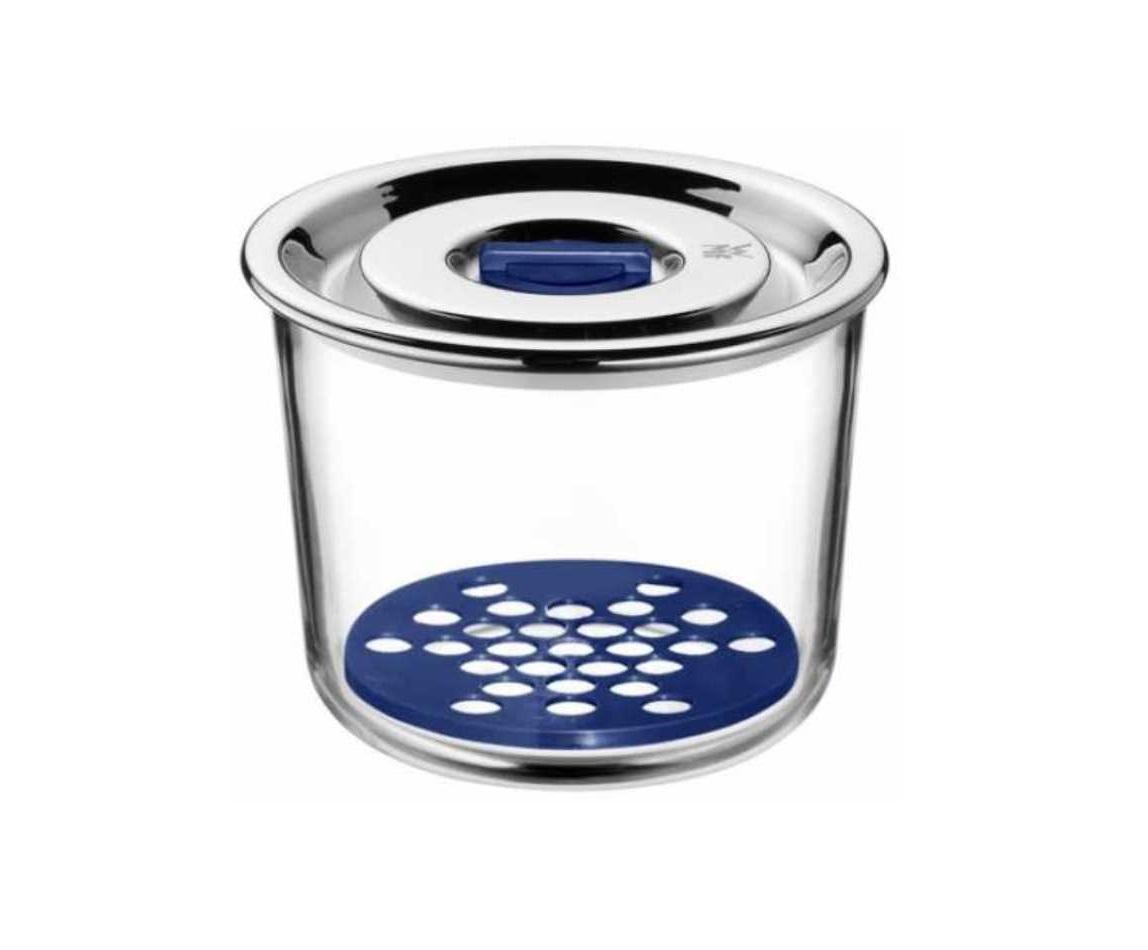 Емкость с крышкой для продуктов WMF Top Serve, диаметр 13 см, прозрачный с серебристым WMF 06 5499 6020 фото 1