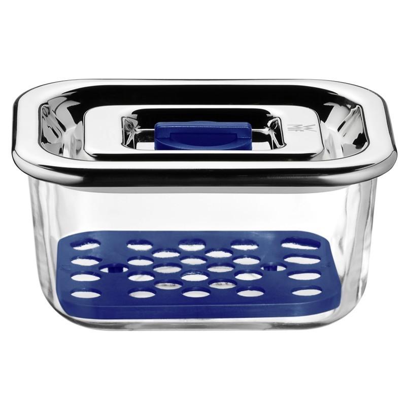 Онлайн каталог PROMENU: Емкость с крышкой для продуктов WMF Food Prep And Storage, 13х10 см, прозрачный с серебристым WMF 06 5488 6020