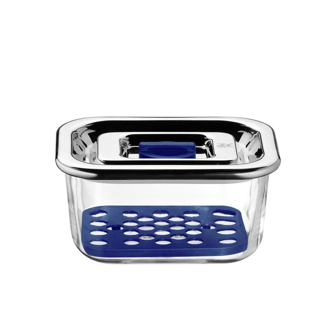Емкость с крышкой для продуктов WMF Food Prep And Storage, 13х10 см, прозрачный с серебристым WMF 06 5488 6020 фото 1