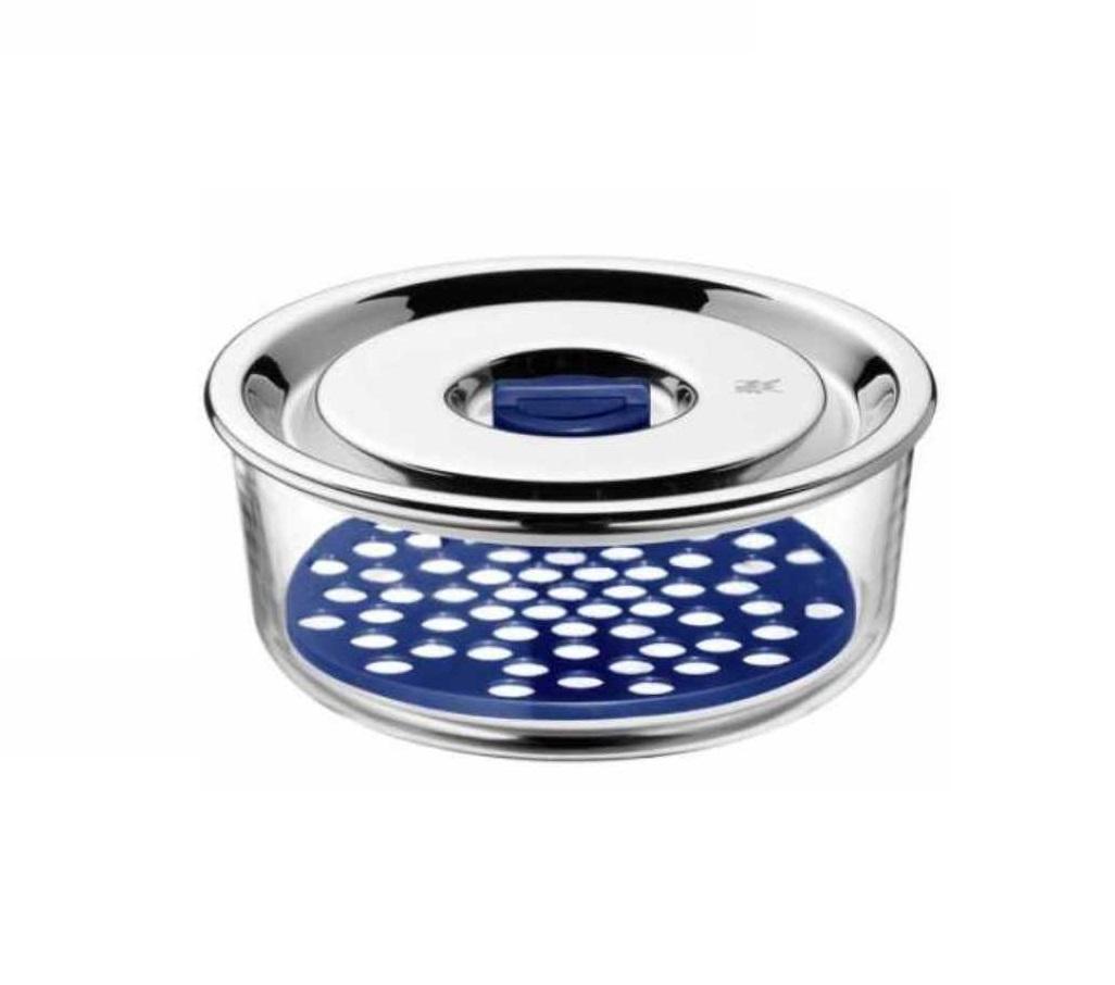 Емкость с крышкой для продуктов WMF Food Prep And Storage, диаметр 15 см, прозрачный с серебристым WMF 06 5486 6020 фото 1