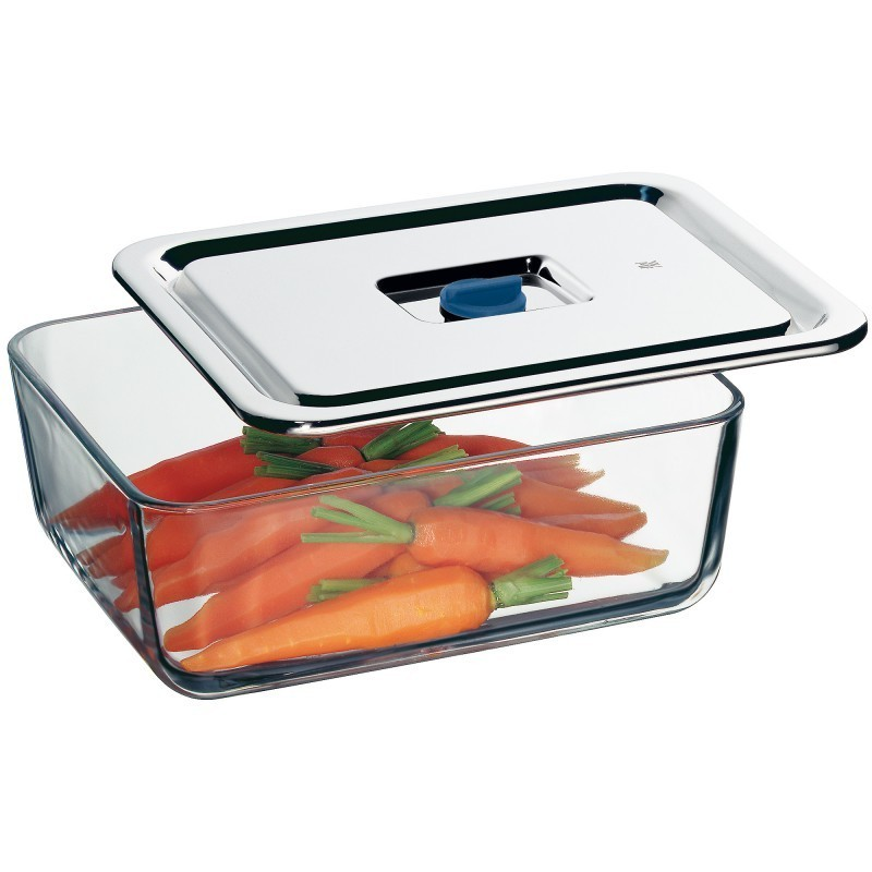 Емкость с крышкой для продуктов WMF Food Prep And Storage, 26х21 см, прозрачный с серебристым WMF 06 5490 6020 фото 2