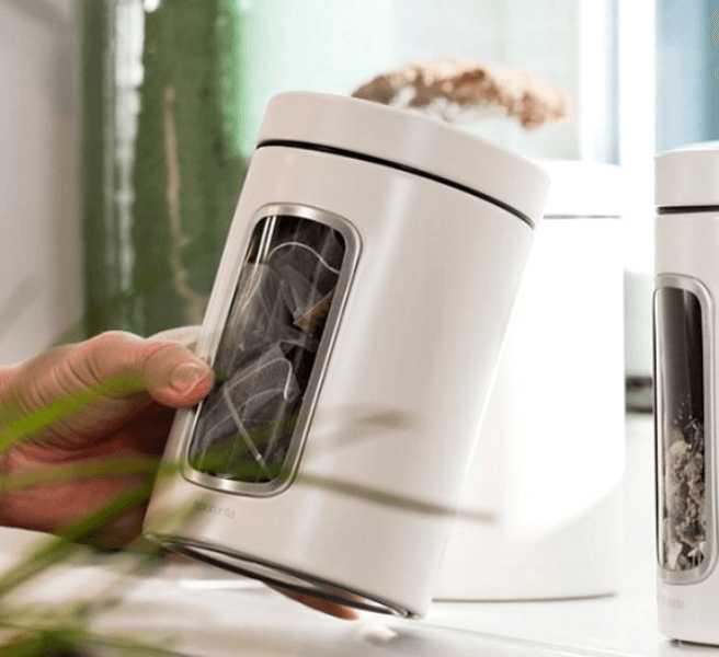 Емкость с крышкой для продуктов Brabantia, объем 1,4 л, белый Brabantia 491009 фото 1