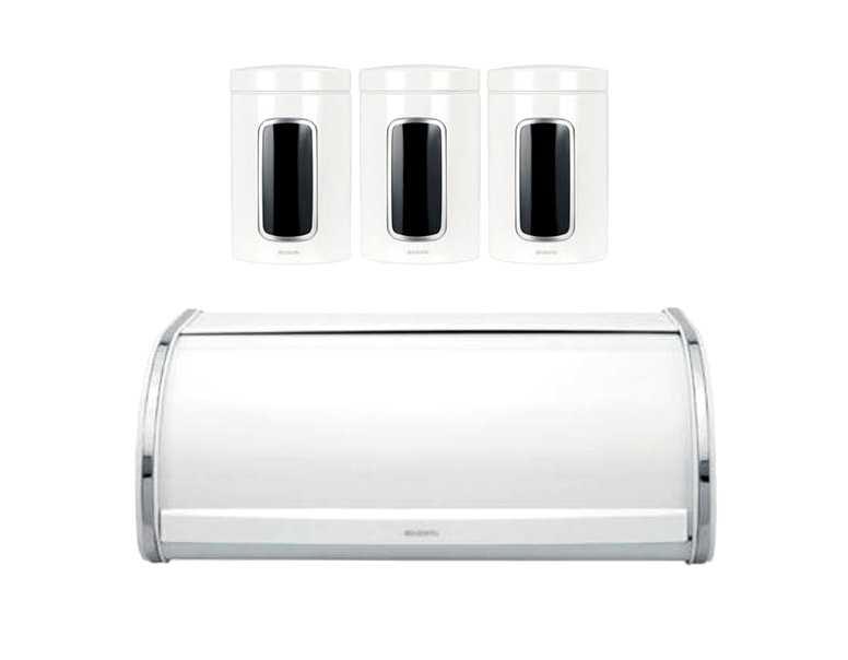 Емкость с крышкой для продуктов Brabantia, объем 1,4 л, белый Brabantia 491009 фото 3