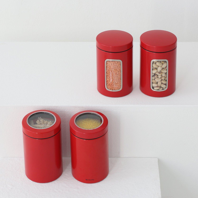 Емкость с крышкой для продуктов Brabantia, объем 1,4 л, красный Brabantia 484063 фото 3