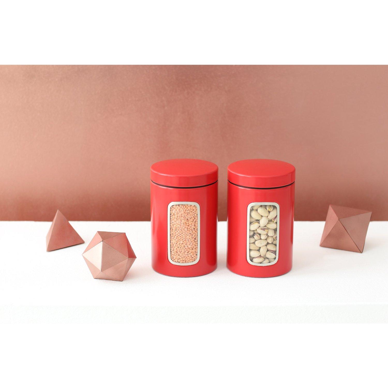 Емкость с крышкой для продуктов Brabantia, объем 1,4 л, красный Brabantia 484063 фото 2