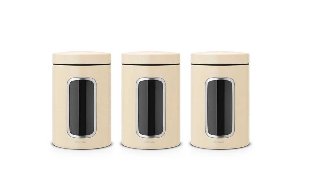 Емкость с крышкой для продуктов Brabantia, объем 1,4 л, кремовый Brabantia 380341/3 фото 1