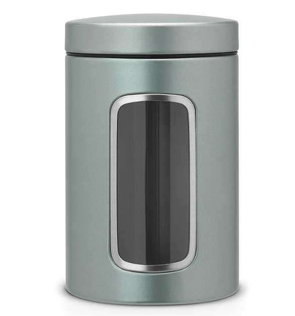 Онлайн каталог PROMENU: Емкость с крышкой для продуктов Brabantia, объем 1,4 л, металлик мятный Brabantia 484360