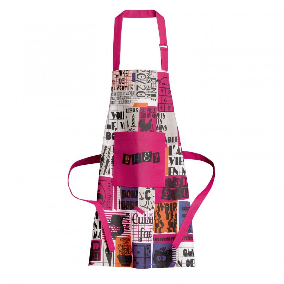 Онлайн каталог PROMENU: Фартук Winkler OFFIC, 52х63 см, розовый с рисунком Winkler 7590030000