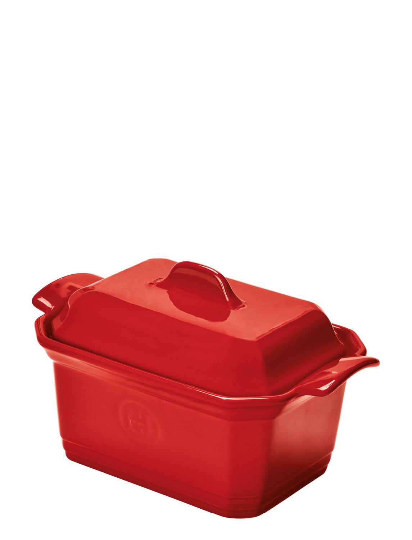 Онлайн каталог PROMENU: Форма для фуа-гра с прессом и крышкой Emile Henry, 15,5х12 см, красный                                   349706