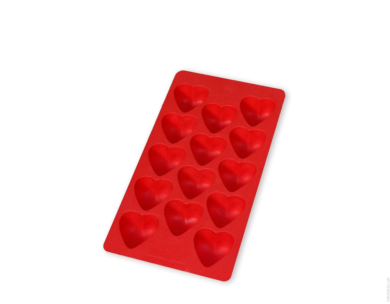 """Форма для льда """"сердечки"""" Lekue, 22х11 см, красный Lekue 0850200R01C150 фото 1"""