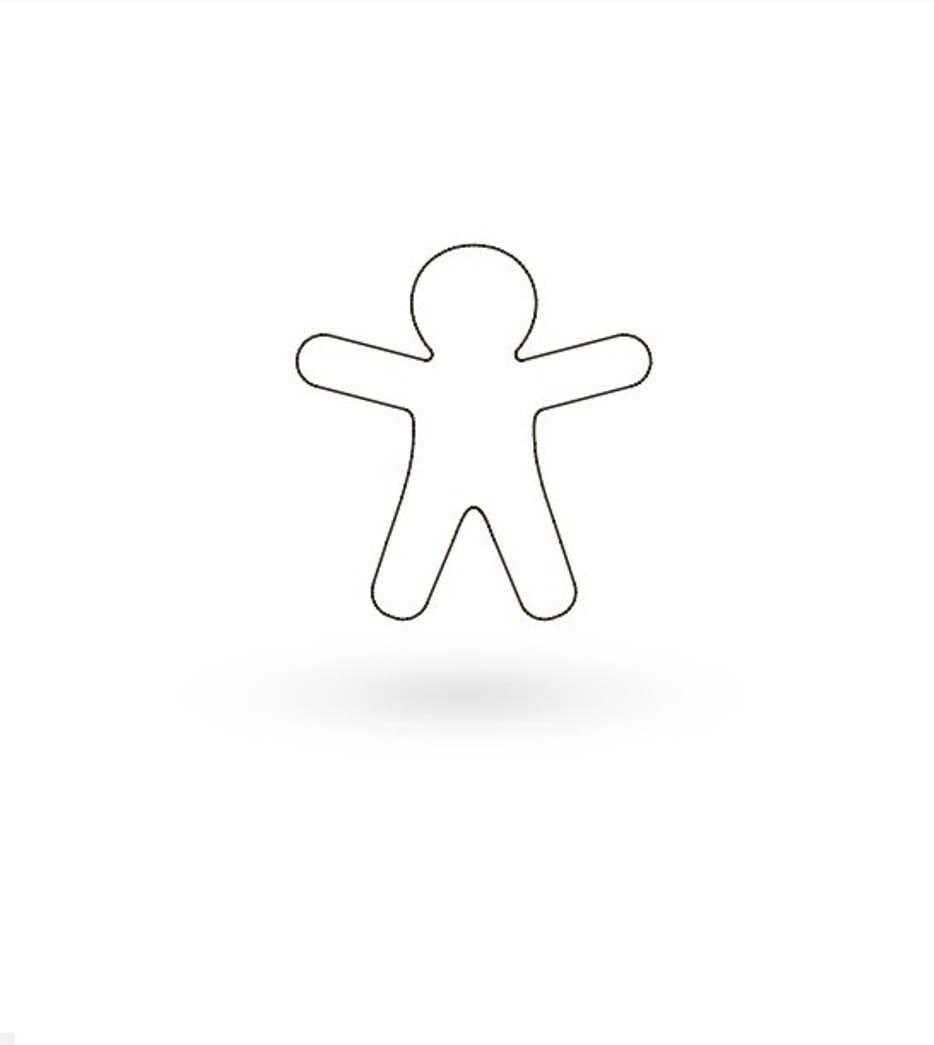 "Онлайн каталог PROMENU: Форма для печенья ""Пряничный человечек"" Kaiser Backform COOKIE, 8х7х2,5 см, серебристый                               23 0060 1045/1"